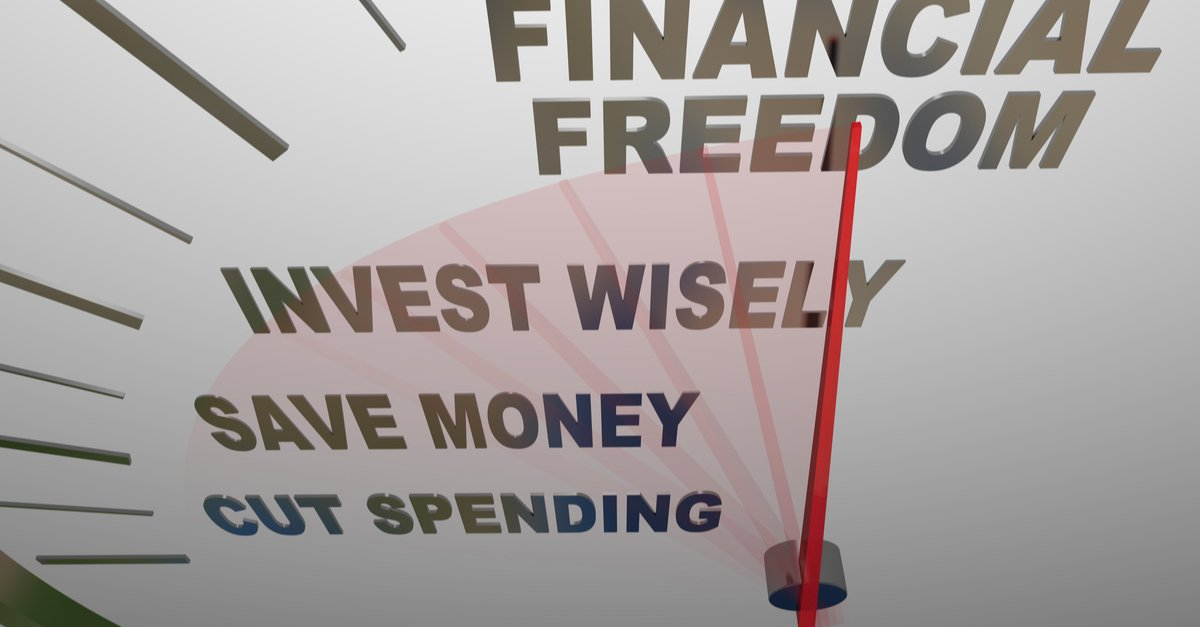 A speedometer with the words Financial Security, Invest Wisely, Save Money and Cut Spending