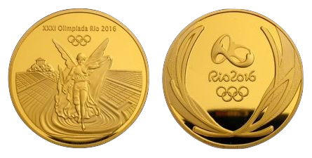 The Modern Olympic Gold Medal