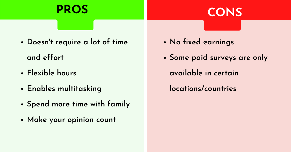 pros and cons of paid customer surveys