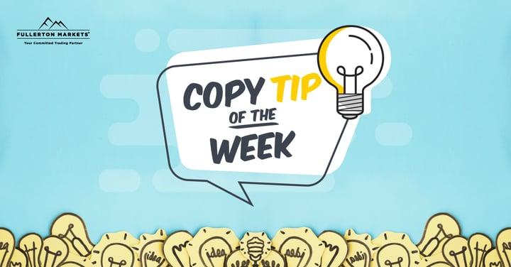 Copy Tip of the Week – วิธีการเฟ้นหาผู้ให้บริการกลยุทธ์ที่ใช่ของเรา ผ่านบัญชีเดโม่ ( 19 June 2020)