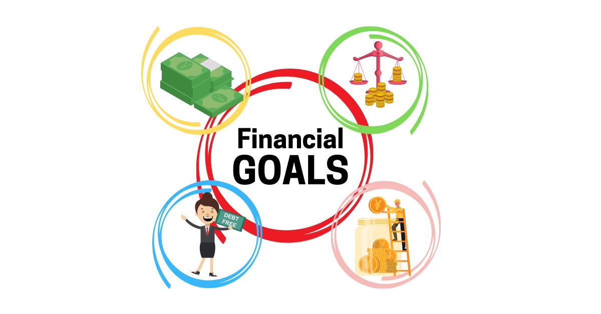 diagram of financial goals placed in specific circles.