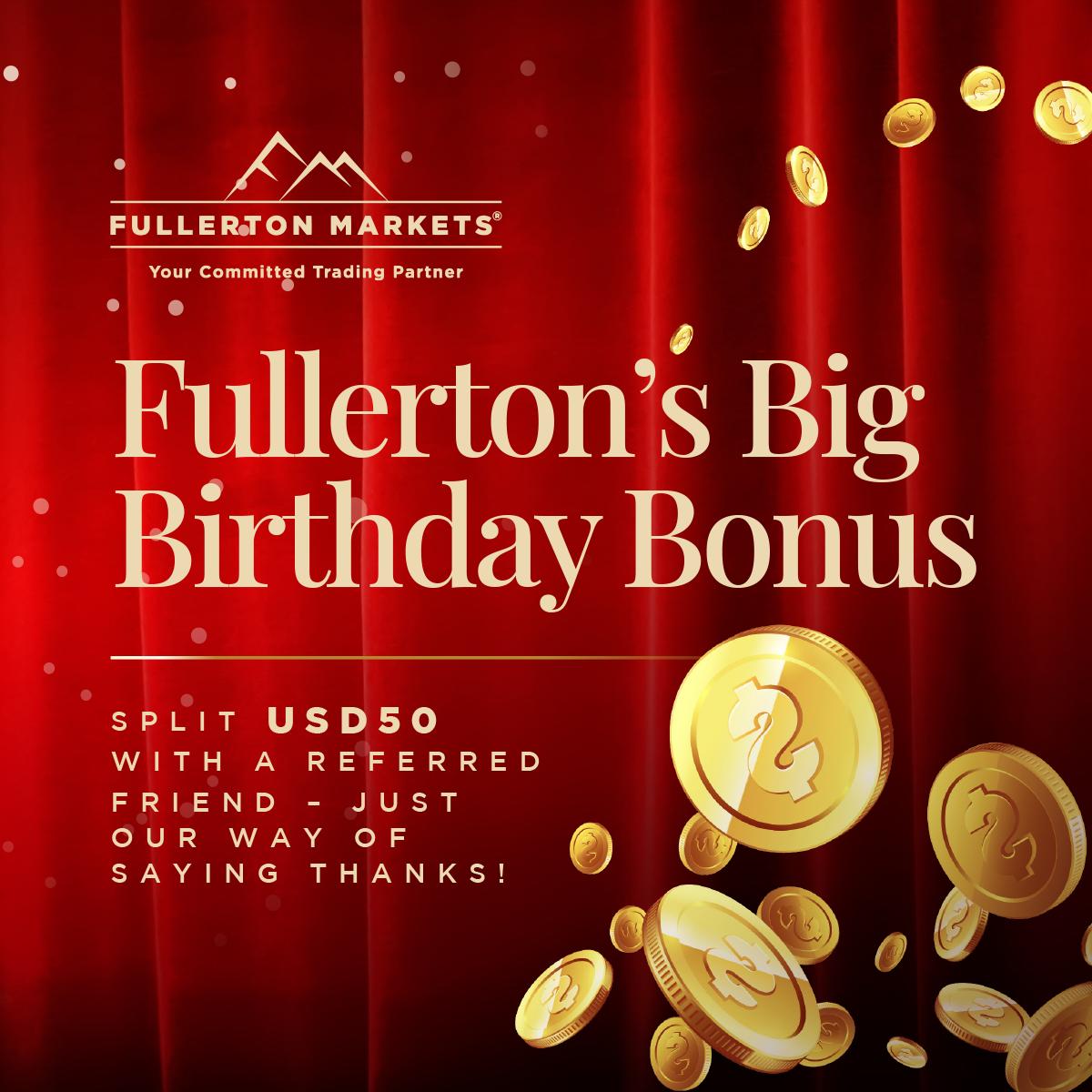 Fullerton's Big Birthday Bonus!